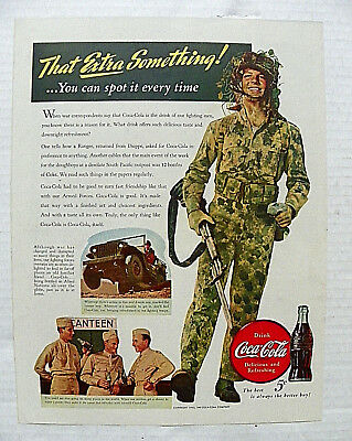 """1943,sept.21 Saturday Evening Post """"that Extra Something!"""" Soldier In Camouflage"""