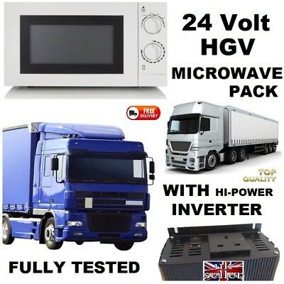 24V Microwave Oven Easy Inverter Converter Pack Truck Lorry Hgv 24 Volt Vehicle