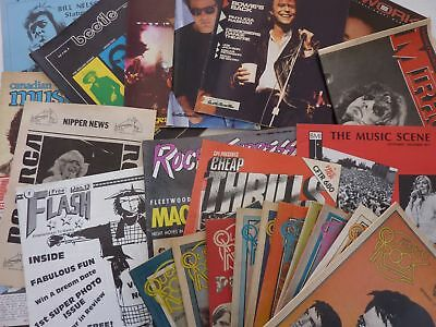 Lot Of 24 Canadian Music Magazines-70s/80's -BOWIE ALICE COOPER APRIL WINE FLOYD