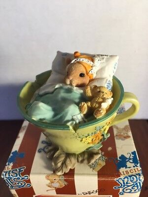 "Priscilla's Mouse Tales ""Healing The Body And Soul "" 642150 1999 Teacup Mouse"