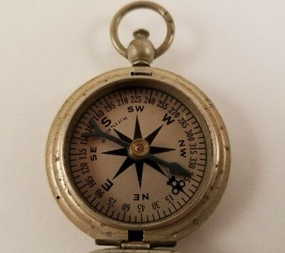 Vintage Brass US Army Pocket Watch Style Compass