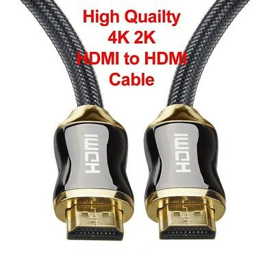 4K Ultra HD Premium HDMI Cable V2.0 Gold Plated 3D High Speed Ethernet 1m