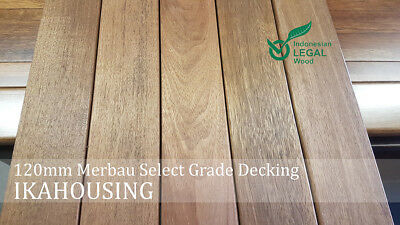 NEW HARDWOOD MERBAU DECKING 120x19mm LIMITED STOCK ONLY $5.90/m