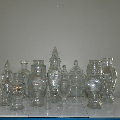 Vintage Apothecary Glass Jars Canisters Candy Store Pharmacy Dakota Huge Lot
