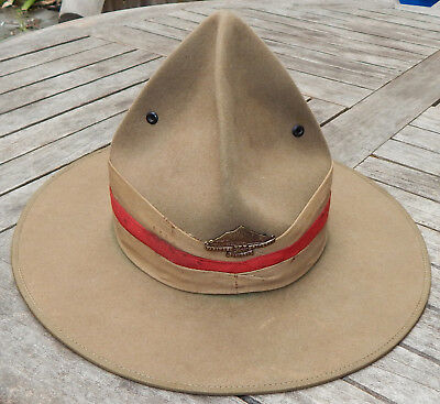 WW1 New Zealand CAMPAIGN HAT 'Lemon Squeezer' OFFICER Private Purchase VERY RARE