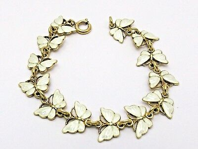 Sterling Silver and Enamel Bracelet butterfly design by Volmer Bahner of Denmark