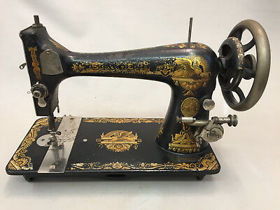 Antique Treadle Singer Sewing Machine Sphinx 1903 Model 12-4 Ser.# K1037283