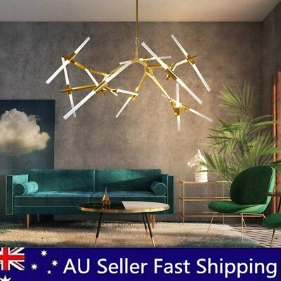 10 Heads Branch Ceiling Lights Fixtures Industrial Chandelier Room Pendant Lamp