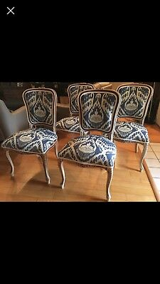 4 Antique French Provincial Style Dining Room Chairs