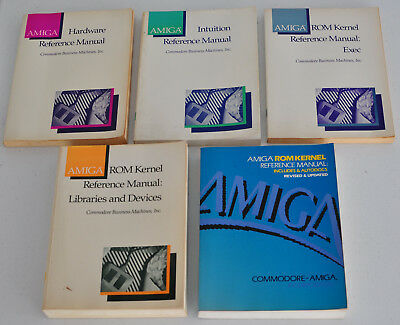 Amiga Rom Kernel, Intuition and Hardware Reference Manuals