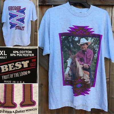 Vintage George Strait Concert T-Shirt 1990s 90s BEST XL Made In USA