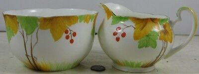 Vintage Cream & Sugar Grafton China Hand Painted