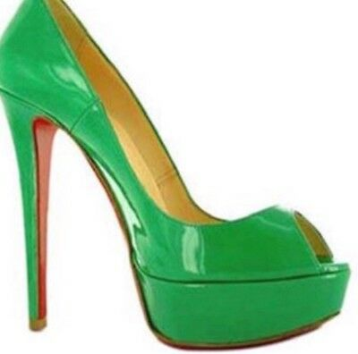 timeless design f8f3b 1c35d AUTHENTIC CHRISTIAN LOUBOUTIN Green Shoes. Size 8