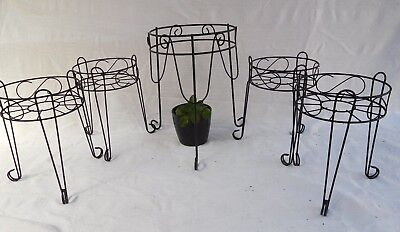 Plant Stands X 4  &  One Larger Similar  Stand