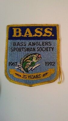 Vintage Bass Anglers Sportsman Society 1967-1992 25 Year Fishing Patch