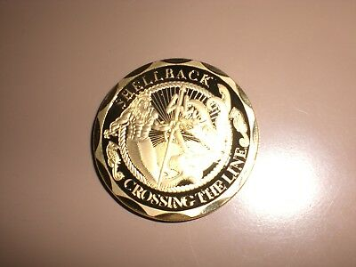 14Kt Plate Gold US Navy Shellback Crossing the Equator Challenge coin