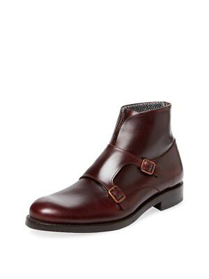 2b896ed8a5d WOLVERINE 1000 MILE Myles Double Monk Strap Red/Brown Leather Boots Size 10  US