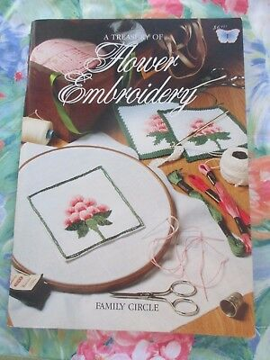 A TREASURY OF FLOWER EMBROIDERY By FAMILY CIRCLE