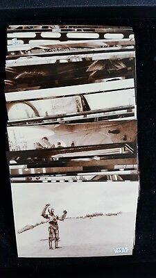 Topps 2018 Star Wars A New Hope Black & White SEPIA Base Parallel Card Lot (52)