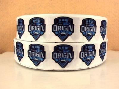 Grosgrain Ribbon Blues NSW Rugby (1m, 2m or 5m)