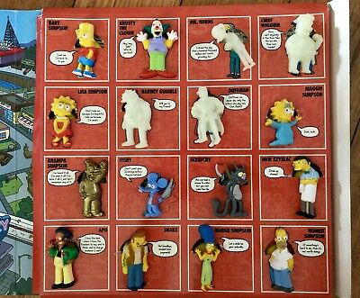 The Simpsons 20th Anniversary Stick'ems collector album - Completed