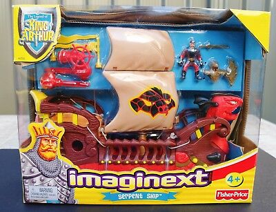 Fisher Price Imaginext Serpent Ship New/damaged Box