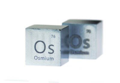 Osmium Metal 10mm Density Cube 99.95% Pure for Element Collection