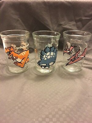 Welch's Dinosaur Jelly Jars - Juice Glasses