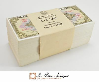 500 Notes Stack - Brazil $5.00 Cruzeiros - Series 4517A *496