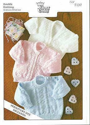 """King Cole Knitting Pattern 7137 - Dk - Baby Childs Sweater Cardigan 14""""-22"""""""