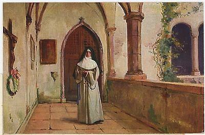 GERMAN,MORGENANDACHT-BY C WEBER,ART CARD-PP,UNPOSTED1905.st27