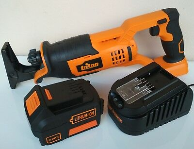 TRITON 18v reciprocating saw, xt power tool + X-POWER 4ah battery + fast charger