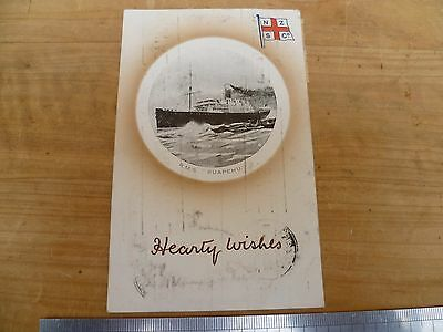 Vintage Old N.z New Zealand Steam Ship Co Advertising Shipping Postcard (D435)