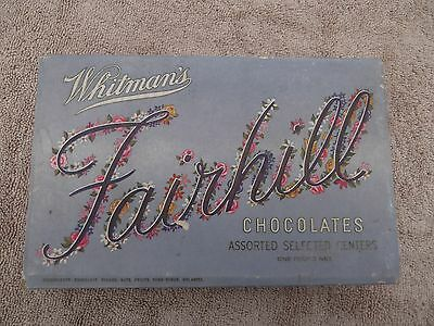 1940s Whitmans Fairhill Chocolate Candy Box