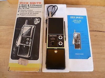 Vintage Old Large Size Dick Smith Transceiver Radio In Box 'complete' (C701)