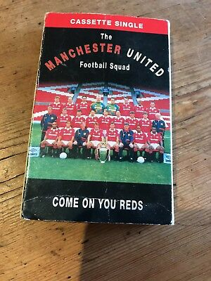 COME ON YOU REDS cassette tape  20 MANCHESTER UNITED CLASSICS