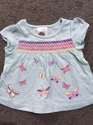 Baby Girls Short Sleeved Top Size 000 EUC