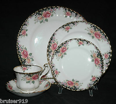 10 Pc CONCERTO Royal Albert 2x5 pc PLACE SETTING DINNER SALAD DESSERT PLATE CUP