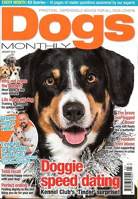Dogs Monthly Magazine January 2016 BORDER TERRIERS DOGS TRUST SUSSEX POLICE DOGS