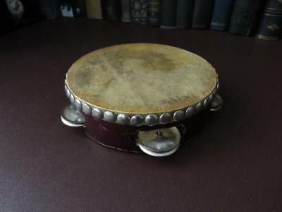 Vintage-Tambourine-Skin-Drumhead-Musical-Percussion-Instruments