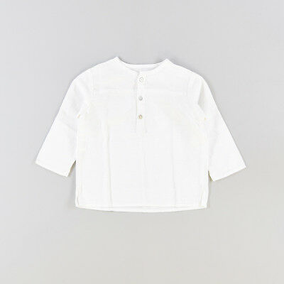 Camisa color Blanco marca Seibe 12 Meses