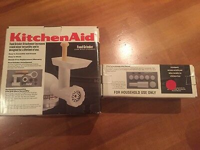 KitchenAid Food Grinder Stand Mixer Attachment & Pasta Maker Plates