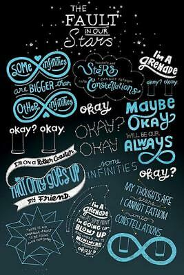 The Fault In Our Stars : Infographic - Maxi Poster 61cm x 91.5cm new and sealed