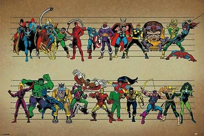 Marvel Characters : Line Up - Maxi Poster 91.5cm x 61cm new and sealed