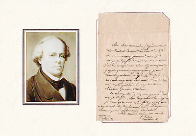 Composers - FROMENTAL HALÈVY orig.letter with pic.