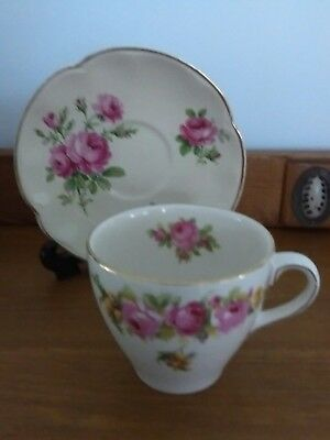 Royal Doulton roses & wattle tea cup, J & G Meakin saucer