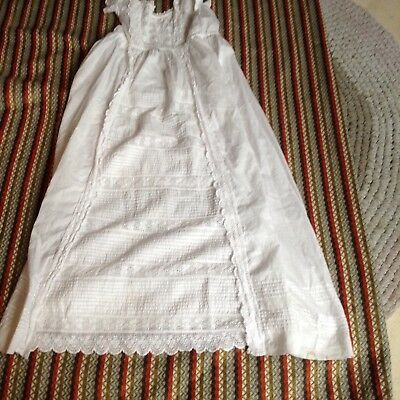 antique long length christening robe for a baby