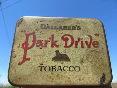 Vintage Gallaher's Park Drive Tobacco 2 oz Net Weight Tin Virginia House London.