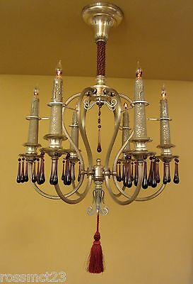Vintage Lighting matched pair extraordinary 1920s silver chandeliers
