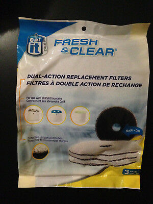 Catit Fresh & Clear Drinking Station Replacement Cartridge 3 Pk